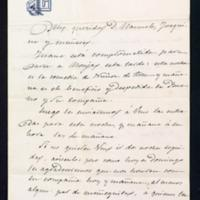 Carta de José Zorrilla a don Manuel Anastasio Reynoso y Oscáriz y a doña Joaquina Mateo e Ibarra, sobre una invitación al teatro