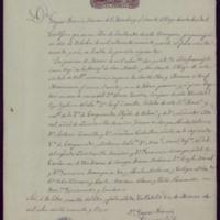 Certificación de la partida de bautismo de José Zorrilla