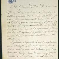 Carta de José Zorrilla a Ramón María Pérez Carrasco
