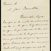 Carta de Víctor Balaguer, ministro de Ultramar, a José Zorrilla