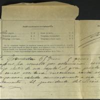 Telegrama del conde de las Infantas, presidente del Liceo artístico y literario de Granada, al ayuntamiento de Valladolid