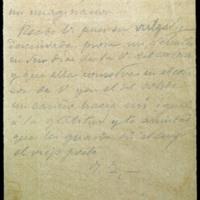 Borrador de carta de José Zorrilla a la condesa de Guaqui