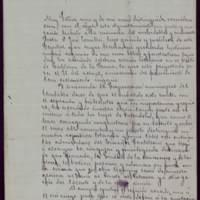 Minuta de carta del alcalde José de Hornedo Huidobro a Gaspar Núñez de Arce