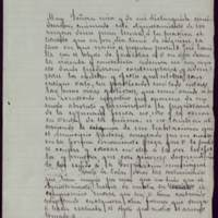 Borrador de carta del alcalde José de Hornedo Huidobro a Juana Pacheco