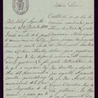 Comunicación de Francisco Zarandona al ayuntamiento de Valladolid