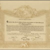 Título de cofrade de honor de la cofradía de Nuestra Señora de la Peña de Francia, sita y fundada en la iglesia parroquial de San Martín de Valladolid