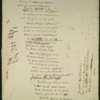 Poema a la Virgen de Montserrat. Borrador