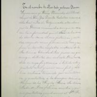 Copia del testamento de Nicomedes del Moral, madre de José Zorrilla