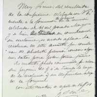 Borrador de carta del alcalde de Valladolid [Cesáreo Aguirre] a Norberto Adulce