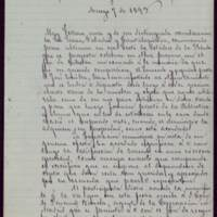 Minuta de carta del alcalde José de Hornedo Huidobro a Juana Pacheco