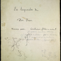 """Borrador de la conclusión de """"La leyenda de Don Juan"""", de José Zorrilla"""
