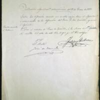 Certificación de acuerdo del ayuntamiento para dar el nombre de Paseo de Zorrilla a la Acera de Sancti Spiritus