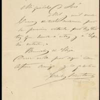 Carta de Carlos Frontaura a José Zorrilla