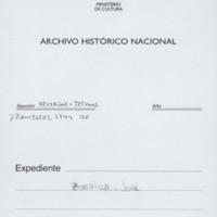 Carta de José Zorrilla a Cánovas del Castillo