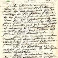 Carta de Ricardo Palma a Juan Oliva Milá