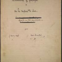 """Poema """"Acuarelas y paisages I. Los dos Ingleses de la luz. Leyenda en tres capítulos. Por José Zorrilla. Agosto, 1877"""""""