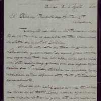 Carta de José González al alcalde de Valladolid [Mariano González Lorenzo]