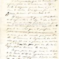 Carta de Mariano Fonts a Víctor Balaguer