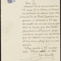 Carta de José Zorrilla a la Real Academia Española