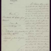 Notificación del alcalde de Badajoz, Sancho Sanabria Zancada, al ayuntamiento de Valladolid