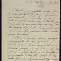 Carta de Darío Velao a Pedro Vaquero Concellón, alcalde de Valladolid