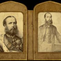 Cartera con 3 fotografías del emperador Maximiliano I de México