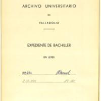 Expediente de bachiller en leyes de Manuel Moral, natural de Quintanilla de Somuñó (Burgos), abuelo materno de José Zorrilla, que obtuvo el grado el 2 de junio de 1775