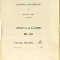 Expediente de bachiller en leyes de José Zorrilla Caballero, natural de Torquemada (Palencia), padre de José Zorrilla, que obtuvo el grado el 17 de mayo de 1800