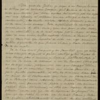Carta de José Zorrilla a su cuñada Julia Arimón
