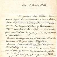 Carta de Jacinto Labaila y González a Víctor Balaguer