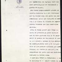Minuta de carta de invitación del alcalde de Valladolid [Leopoldo Stampa Stampa] a los actos del centenario del nacimiento de Zorrilla