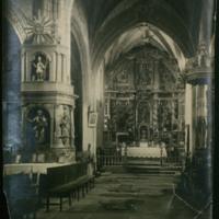 Interior de la iglesia parroquial de San Andrés Apóstol de Quintanilla de Somuñó (Burgos)