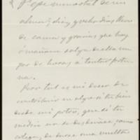 Carta de José Letamendi a José Zorrilla