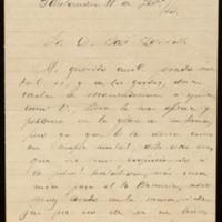 Carta de José María de Pereda a José Zorrilla