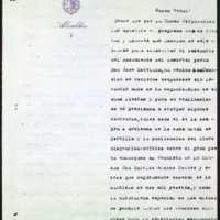 Minuta de carta del alcalde de Valladolid [Leopoldo Stampa Stampa] al gobernador civil, sobre los actos conmemorativos del centenario del nacimiento de Zorrilla