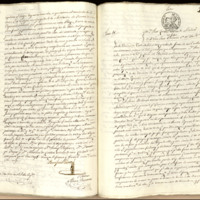 Carta de poder de José Zorrilla, vecino de Madrid y residente en Valladolid, a José Justo Badierno, vecino de Madrid, dada ante Alonso Quintero, notario de Valladolid
