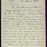 Carta de Leopoldo Cano, coronel, Jefe de Estudios de la Escuela Superior de Guerra, a Mariano González Lorenzo