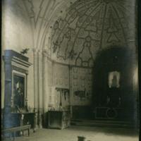 Interior de la ermita de Santa María de Muñó, situada en el término de Villavieja de Muñó (Burgos)