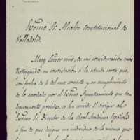 Carta de Mariano Catalina, secretario de la Real Academia Española, al alcalde de Valladolid [Mariano González Lorenzo]