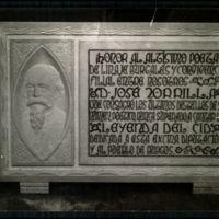Burgos: Lápida colocada en la sala cidiana del Palacio de la Diputación Provincial en homenaje al poeta D. José Zorrilla