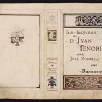 Boceto para la cubierta de La Leyenda de Don Juan Tenorio,