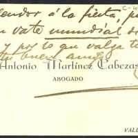 Nota del abogado Antonio Martínez Cabezas a [Juan Antonio] Ramos