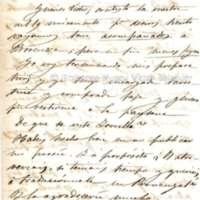 Carta de Alberto de Quintana i Combis a Víctor Balaguer