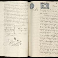 Acta notarial de la traslación al Panteón de Vallisoletanos Ilustres de los restos mortales del poeta José Zorrilla, efectuada por Enrique Miralles Prats, notario de Valladolid.