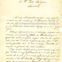 Carta de Joaquín M. Martínez a Víctor Balaguer