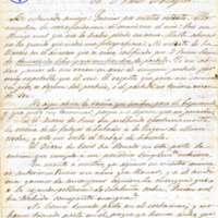 Carta de Mariano Pons a Víctor Balaguer
