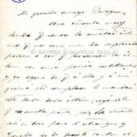 Carta de Antonio Ferratges a Víctor Balaguer