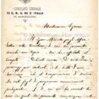 Carta de Cº Robenti a Víctor Balaguer