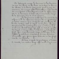 Minuta de carta del alcalde José de Hornedo Huidobro a Germán Gamazo