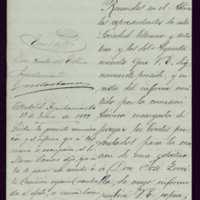 Carta de Gaspar Núñez de Arce al alcalde de Valladolid [Moisés Carballo]